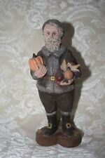 Sarah's Attic Harvest Farmer Christmas Santa 1988 #293 Resin Figurine