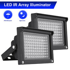 2X LED IR Illuminator Infrared Lamp Outdoor Night Vision for CCTV Camera Q2M4