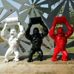 Geometric King Kong Gorilla Bust Figurine Sculpture Tabletop Home Office Decor S