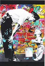 Mr Brainwash Not Guilty postcard print popart banksy kaws keith haring graffitti