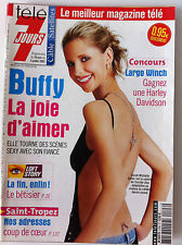 Télé 7 Jours  29/06/2002; Sarah Michelle Gellar/ Buffy/ Laurence Ferrari/ Cocker