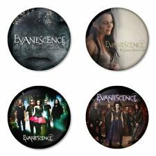 Evanescence, B - 4 chapas, pin, badge, button