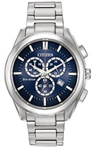 NWT Citizen Men's AT2170-54L Eco Drive Quartz Stainless Steel Dress Watch