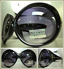 EXAGGERATED OVERSIZE VINTAGE RETRO Style SUN GLASSES Huge XL Round Black Frame