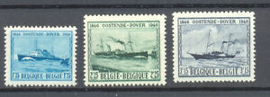 BELGIUM 1946 ostend-dover ships  MNH** 725/27