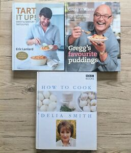 Delia Smith How to Cook Books 1 & 2, Tart it Up, Gregg's Favourite Puddings Book