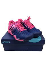 NEW Asics Gel Resolution 7 Tennis Shoes Sneaker Blue Pink E751Y-400 Size 5