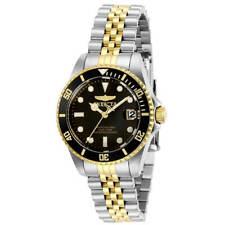 Invicta Women's Watch Pro Diver Quartz Black Dial Two Tone Steel Bracelet 29189
