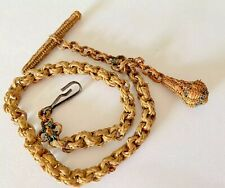 Antique Ornate Woven Mourning Watch Chain Fob- GIFT BOXED