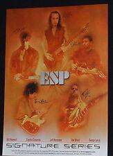 2001 Jeff Hanneman,Kirk Hammett,Ron Wood,etc ESP signature guitars print Ad