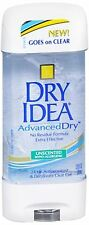 Dry Idea Advanced Dry Unscented Deodorant Clear Gel 3 oz (2 pack)