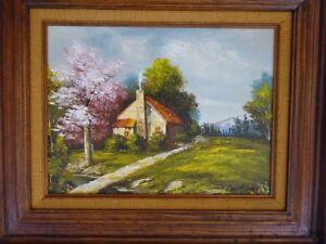 Hudson Valley Oil Painting Landscape Signed by artist Vintage Framed Original