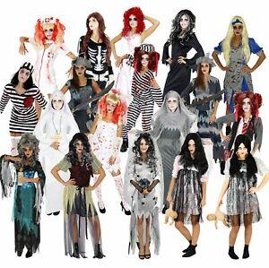 Halloween Kostüme für Damen Horror Kostüm Zombie Geist Damenkostüm Gr. XS-XXXL