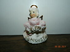 """#489 4 1/4"""" Vintage Geo Lefton Angel Figurine Spaghetti August poppy peridot"""