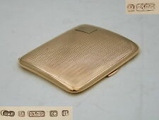 RARE GEORGE VI HM 9ct GOLD ART DECO CIGARETTE CASE 1942