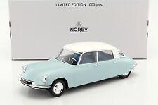 CITROEN DS 19 année modèle 1959 bleu clair/blanc 1:18 Norev