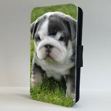 Bulldog Soppy Cute Puppy Face FLIP PHONE CASE COVER for IPHONE SAMSUNG