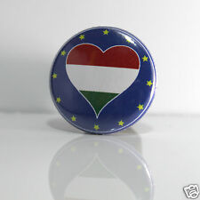 2 Badges Europe [25mm] PIN BACK BUTTON EPINGLE Magyarország