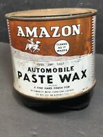 AMAZON Vintage Automobile PASTE WAX  Paint can.    *RARE*  COLLECTORS