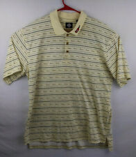 Tabasco Polo Shirt Yellow Patterned Mens Size XXL 2XL Embroidered Bottle EUC