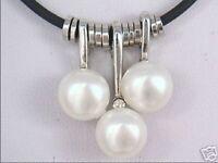 Charme kultiviert weißen Süßwasserperle -Anhänger Halskette