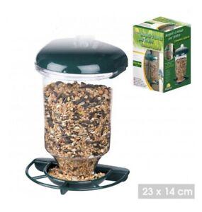 Wild Bird Feeder Garden Glass Window Hanging Suction Cup Automatic Seeds Feed NE