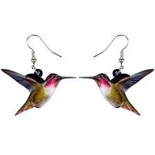 Acrylic Flying Hummingbird Bird Earrings Dangle Drop Jewelry For Women New Gift