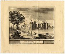 Antique Print-EGMOND-KASTEEL-CASTLE-SLOT-NETHERLANDS-Schijnvoet-Roghman-1754