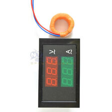 Digital led voltage meter ammeter voltmeter with current transformer ac 80-300v