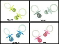 LARGE Acrylic PACIFIER Baby Shower Favor Choose Color & Package Amount