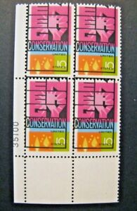 1974 US S# 1547 Energy Conser. Issue Major Color Shifts Printing PB 4v MNH *
