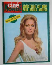►CINE MONDE 1579/1964 - URSULA ANDRESS - RICHARD ANTHONY - BRASSENS - BARBARA