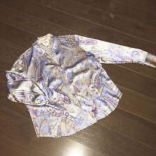 Talbots Women's CAREER Silk Blend Button Down Shirt Paisley Print 12W