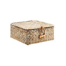 Petit carré blanc lavé paille Box