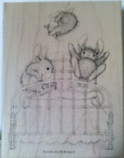 """Happy Hoppers by Stampendous """"Bouncing Bunnies"""" WM Rubber Stamp"""