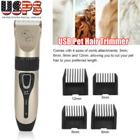 Electric Pet Dog Cat Hair Shaver Razor Grooming Animal Trimmer Clipper Machine