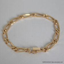 Bracelet Or 18k 750 Maille Alternée - 14.7grs - Bijoux occasion