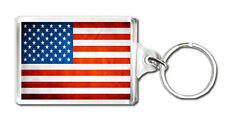 USA FLAG KEYRING SOUVENIR NEW LLAVERO