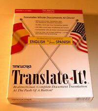 """Translate It! """"Spanish to and from English"""" by Timeworks for DOS 5.0+ - NEW"""
