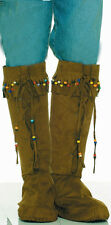 Hippie Beaded Boot Tops 60's Groovy Dress Up Halloween Adult Costume Accessory