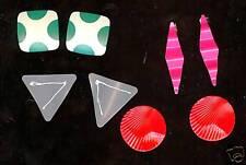 FUNKY Mod UNUSUAL 4 pr Pierced Earrings