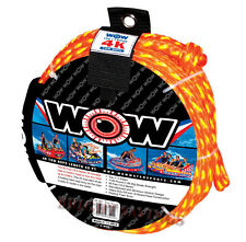 """new WOW 4K Tow Rope Towable Tube 60' Long Floating 5/8"""" Heavy Duty Water Ski"""