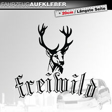 Freiwild | Hirsch | Fun | Fahrzeug | Schwarz | PKW Auto Aufkleber