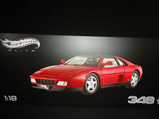 Hot Wheels Elite Ferrari 348 TS rouge 1/18 édition limitée