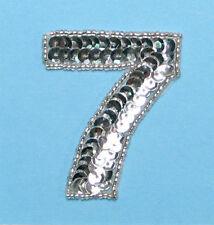 SEQUIN BEADED NUMBER SEVEN APPLIQUE 2319-F