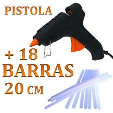PISTOLA DE SILICONA 20W + 18 barras de 20cm CALIENTE  MANUALIDADES envío 24h