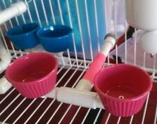 "Treat / Food Cups - PERCH for Parrot   Easy Cleaning A ""Must Have"" Item!"