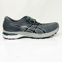 Asics Mens GT 2000 9 1011A983 Gray Black Running Shoes Lace Up Low Top Size 12