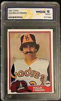 1981 Topps Rollie Fingers #229 WCG GRADED 10 GEM MINT San Diego Padres