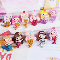 20 pcs Mixed Kinds Resin Cabochons Cute Mermaid Design Embellishments 2-3cm